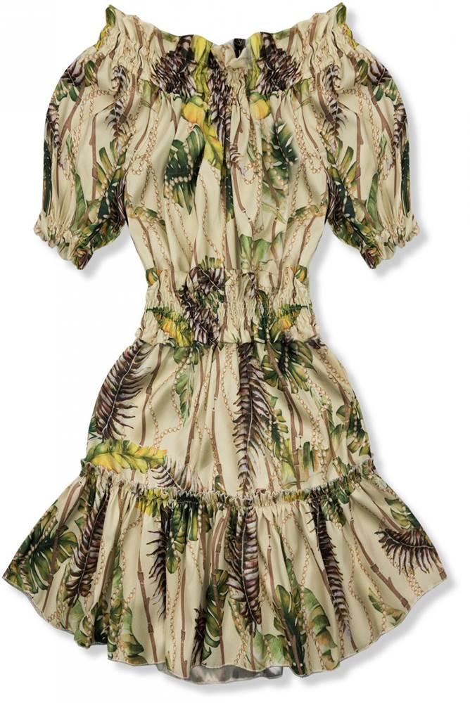 Béžovo-žlté šaty Serena/O&#...