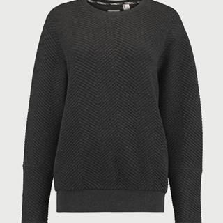 Mikina  LW Quilted Sweatshirt Čierna