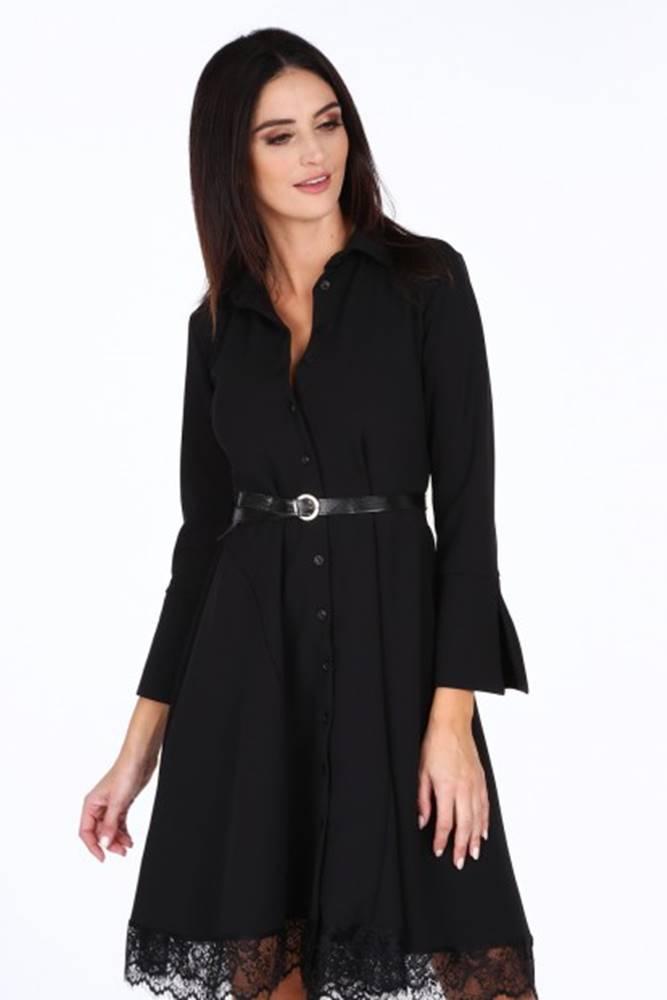 Čierne dámske šaty s jemnou...