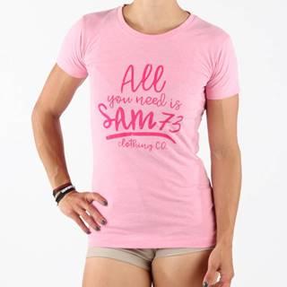 Tričko SAM 73 LTSN476 Růžová