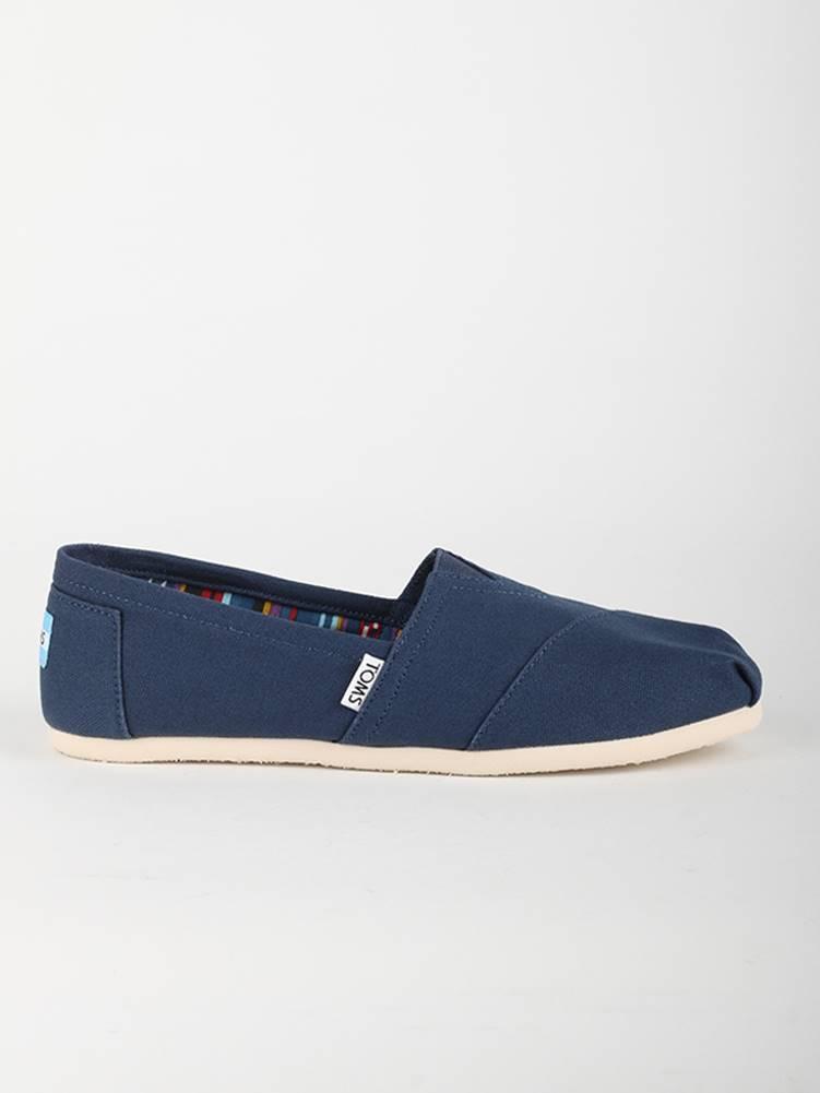Topánky Toms Navy Canvas Wm Clsc Alprg Nl Modrá