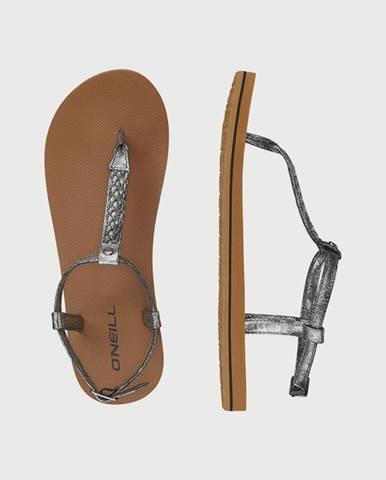 Sandále O´Neill Fw Braided Ditsy Plus Sandal Hnedá