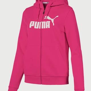 Mikina Puma Essentials Fleece Hooded Jkt Růžová