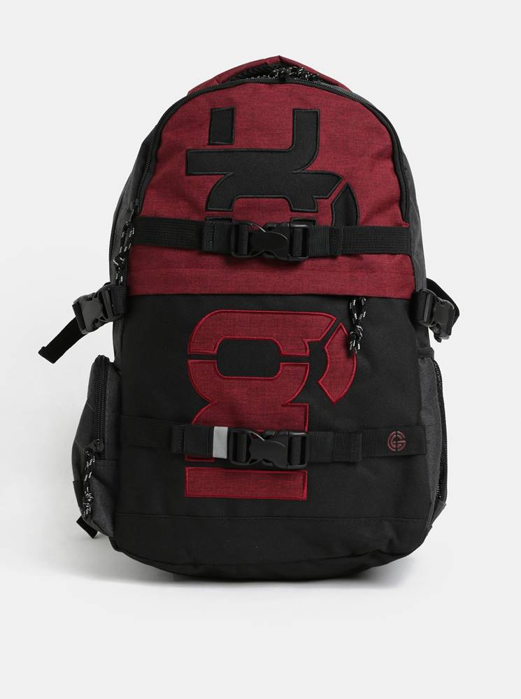 Červeno-sivý batoh s odníma...