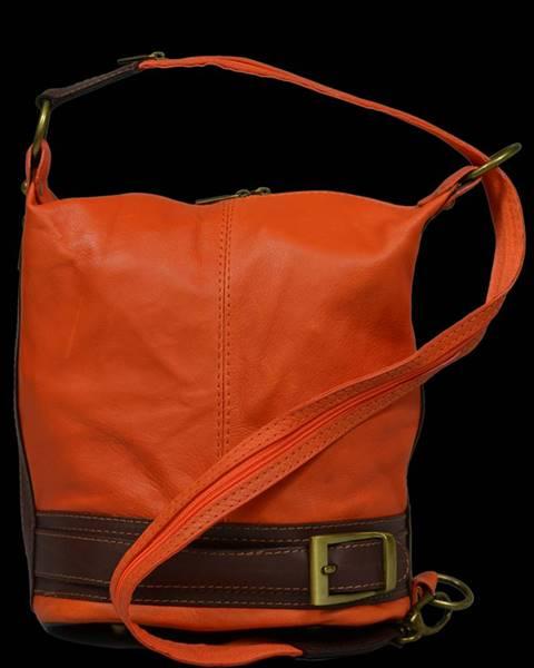 kožená kabelka cez rameno dámska Adele Arancione