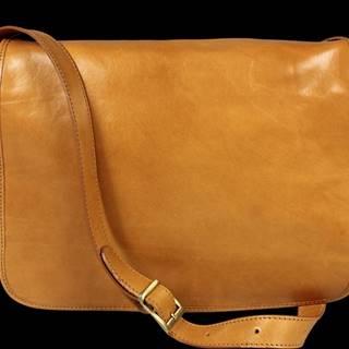 Pánská kožená aktovka Lorenzo Camel Chiaro
