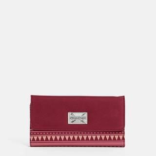 Tmavoružová dámska vzorovaná peňaženka Horsefeathers Ayla
