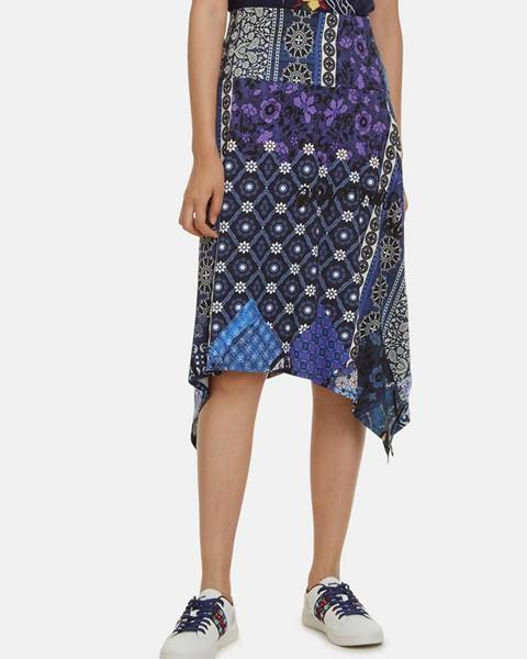 Tmavomodrá vzorovaná sukňa  Katherine