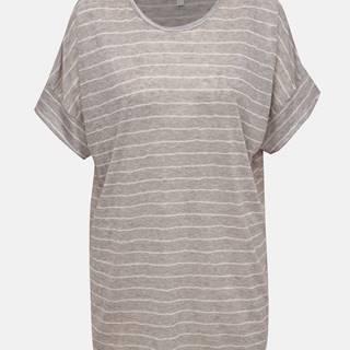 Šedé pruhované tričko Apricot
