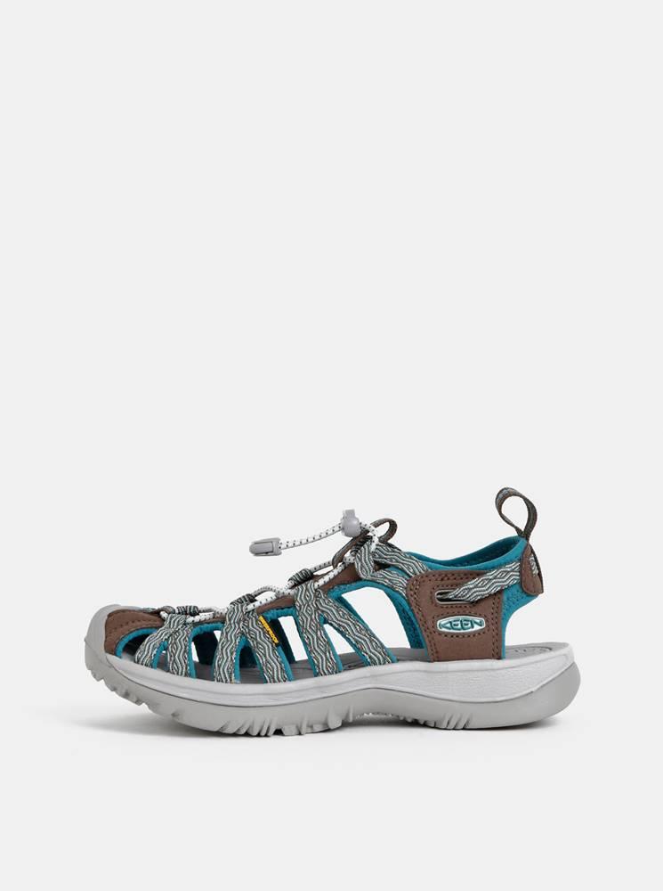 Hnedo-modré dámske sandále ...