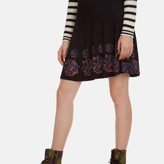 Čierna vzorovaná sukňa Desigual Louise