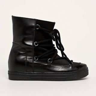 Solo Femme - Kožené členkové topánky