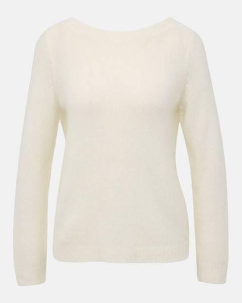 Krémový sveter s véčkovým výstrihom Noisy May Sara