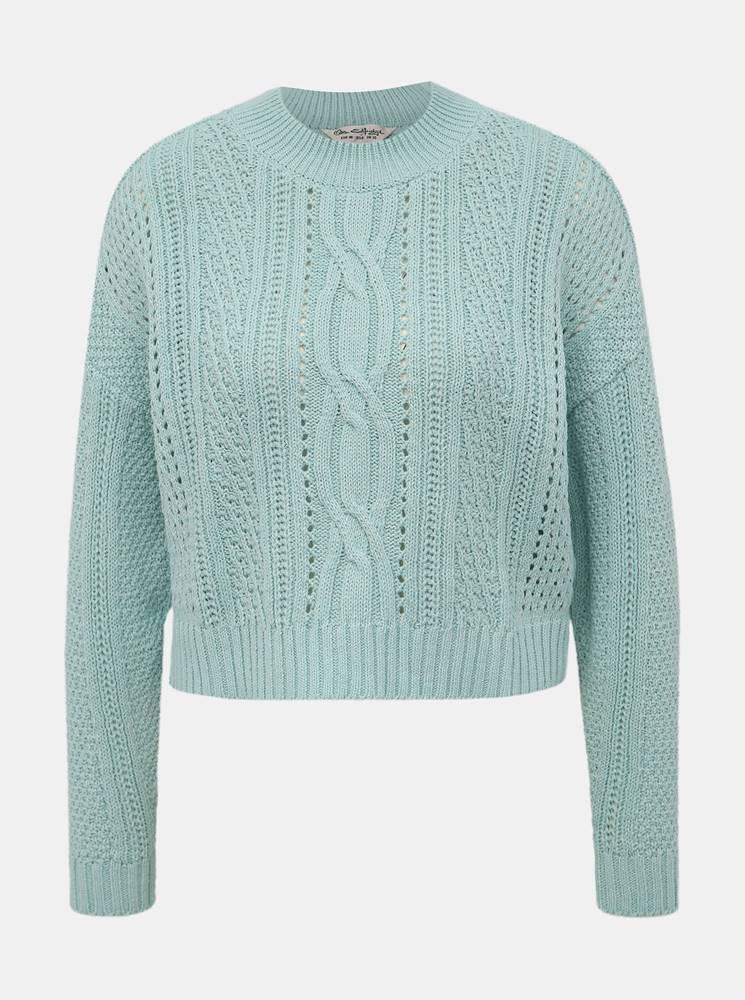 Mentolový sveter Miss Selfr...