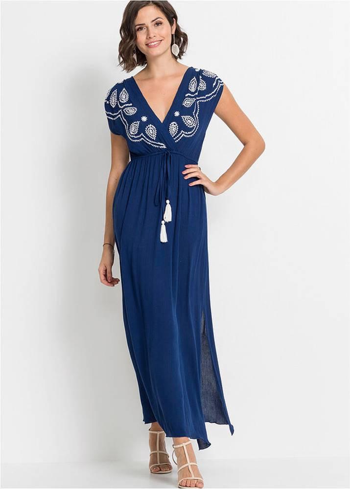 Maxi šaty s vyšívkou