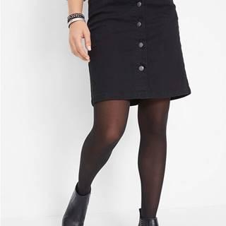 Strečová sukňa s gombíkmi