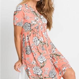 Úpletové šaty s kvetovanou potlačou