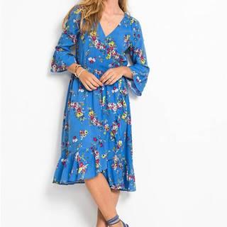 Zavinovacie šaty s kvetovanou potlačou