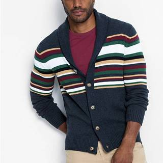 Pletený sveter so šálovým golierom