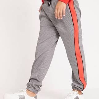 Úpletové nohavice s bočnými pásikmi