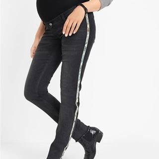 Materské džínsy, Skinny, pásy s potlačou hadej kože
