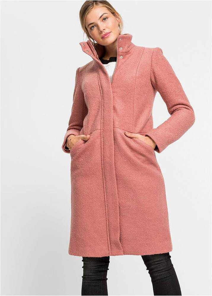 Kabát vo vlnenom vzhľade