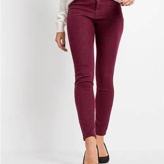 Lesklé strečové nohavice
