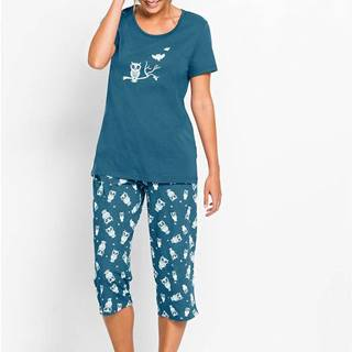 Pyžamo Capri s krátkymi rukávmi