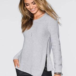 Pletený pulóver so zipsom