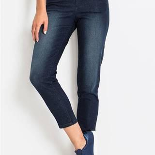 Strečové džínsy, klasické, skrátený strih