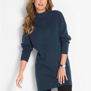 Pletené šaty so stojačikom