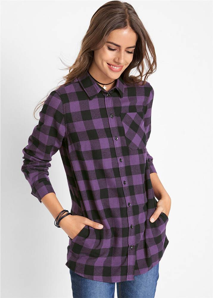 Flanelová dlhá košeľa