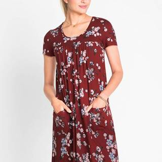 Džersejové šaty, krátky rukáv