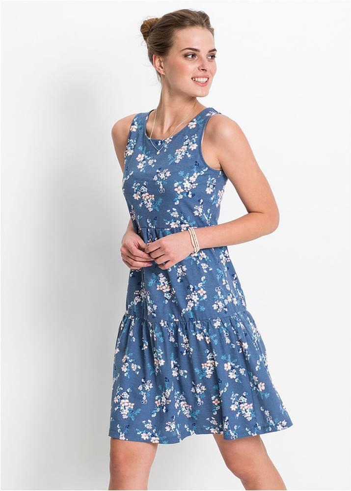 Úpletové šaty, potlačené