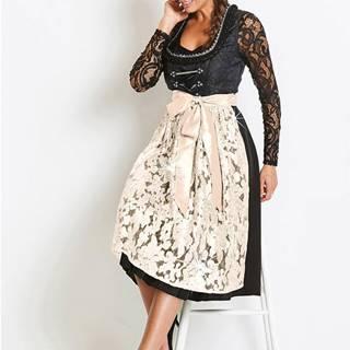 Premium krojové šaty s flitrovanou zásterou