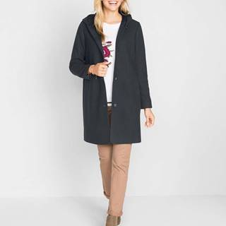 Kabát vo vlnenom vzhľade s kapucňou