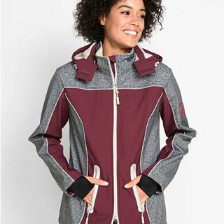Softshellová bunda s reflexnými prvkami