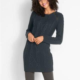 Pletené šaty so zipsmi