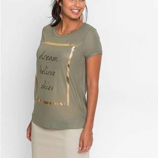 Tričko s metalízovou potlačou