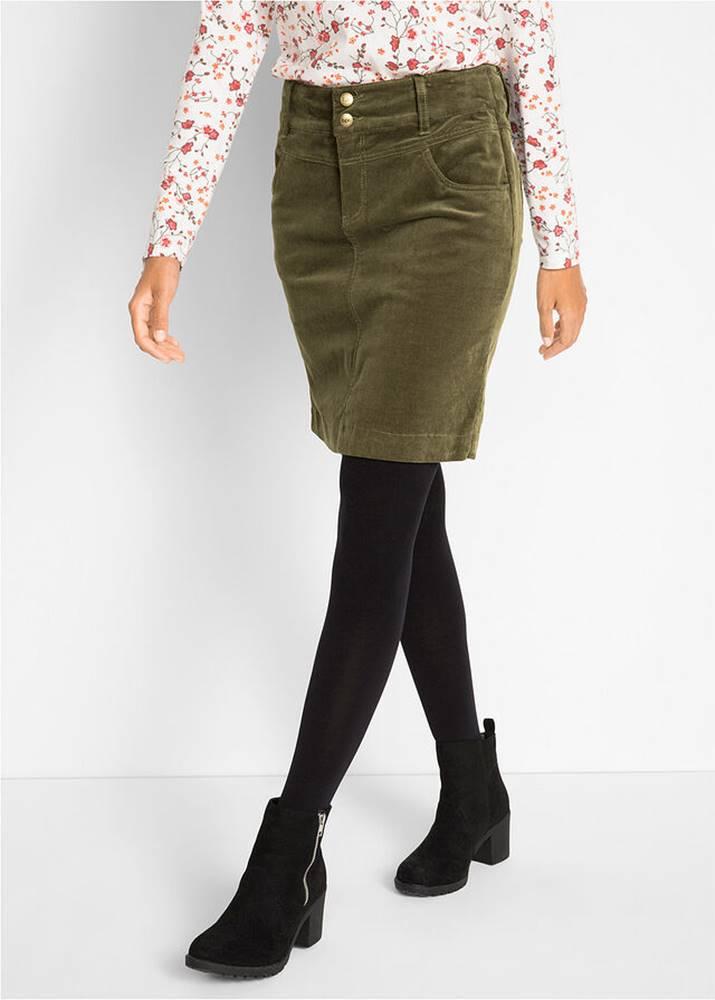 Strečová kordová sukňa
