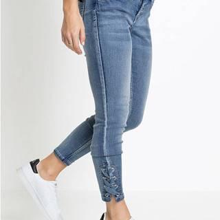 Skinny džínsy, skrátené so šnurovaním