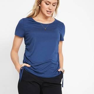 Tričko s bočným nariasením, padavý modálový materiál