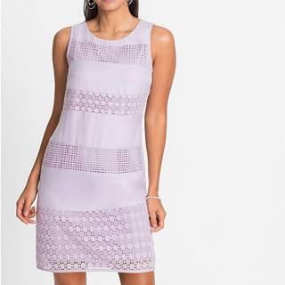 Šaty s čipkovanými časťami