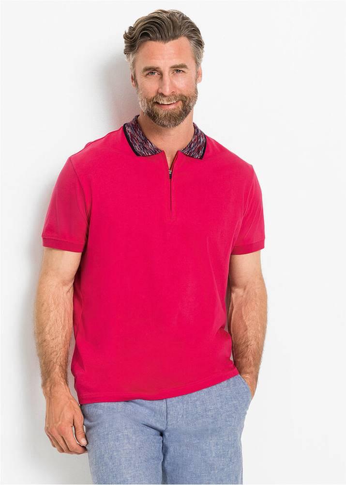 Polo tričko s pestrým golierom