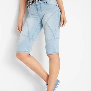 Strečové džínsové bermudy