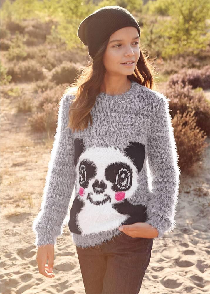 Mäkký pletený pulóver
