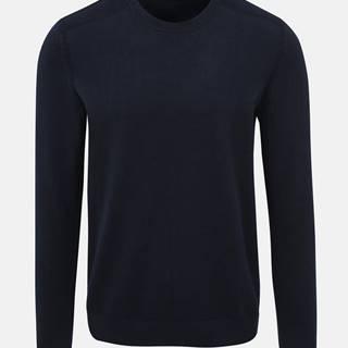 Tmavomodré basic sveter Selected Homme Daniel
