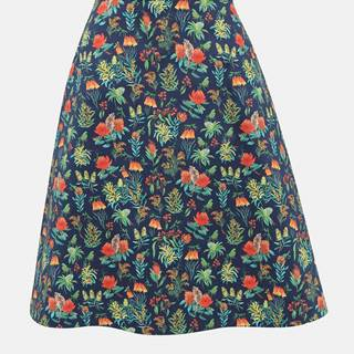 Tmavomodrá kvetovaná sukňa annanemone