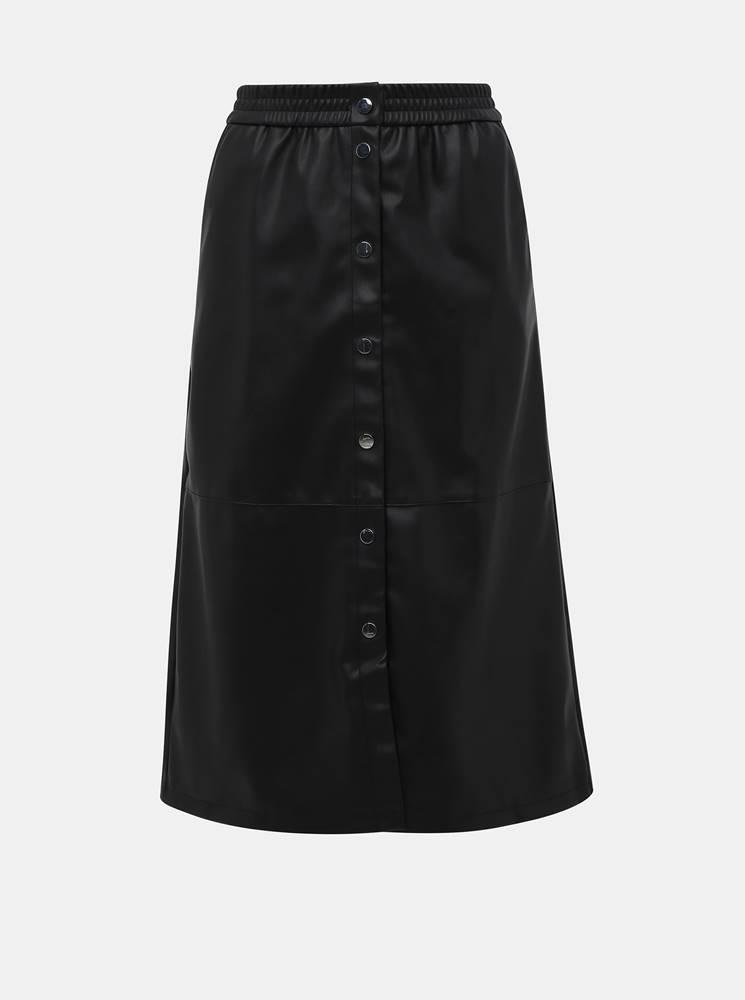 Čierna koženková sukňa VILA Pulla