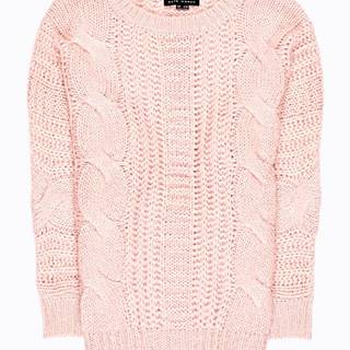 Rozšírený sveter so zapletaným vzorom